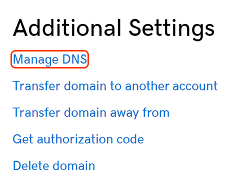 select select manage dns